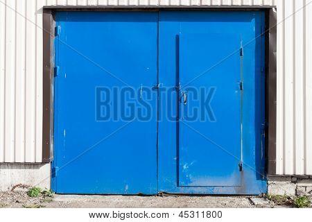 Locked Grunge Metal Door