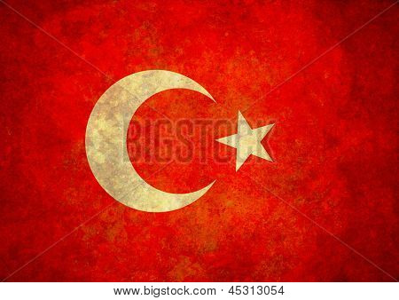 Grunge Turkey Flag