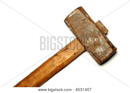 The Big Sledge Hammer On White