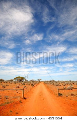 Red Dusty Dry Outback Road Central Australia