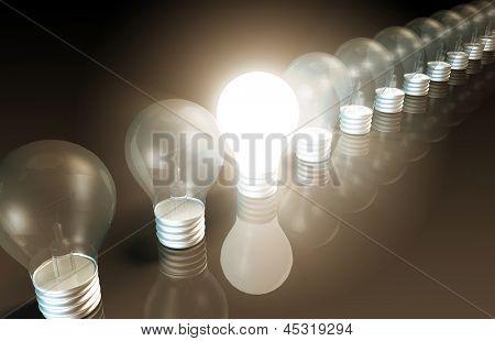 Innovación como concepto con una inspiración repentina