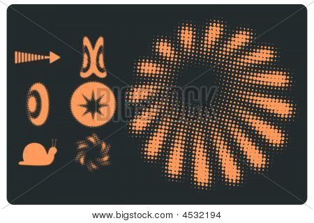Doted Objects Vector