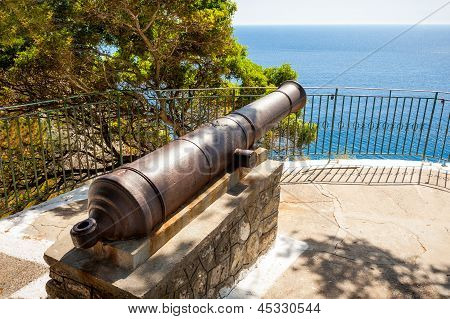 Ancient Cannon In Paleokastritsa, Corfu