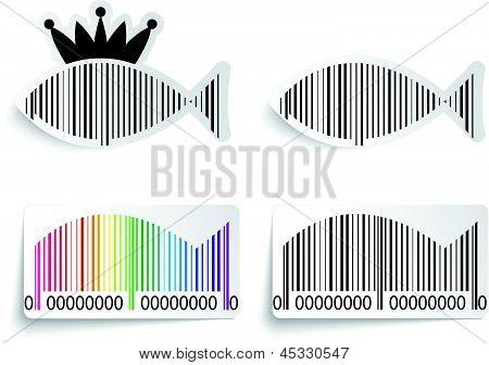 Barcode fish label set