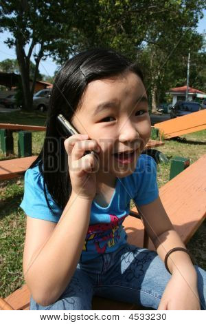 Girl On Mobile Phone