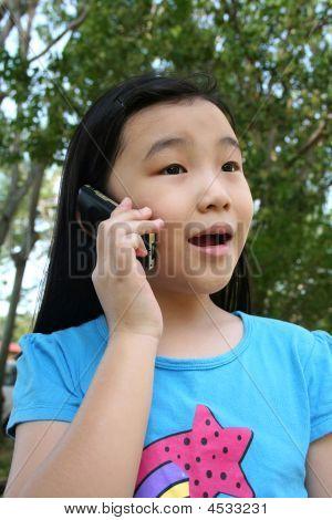 Girl On Mobile Phone