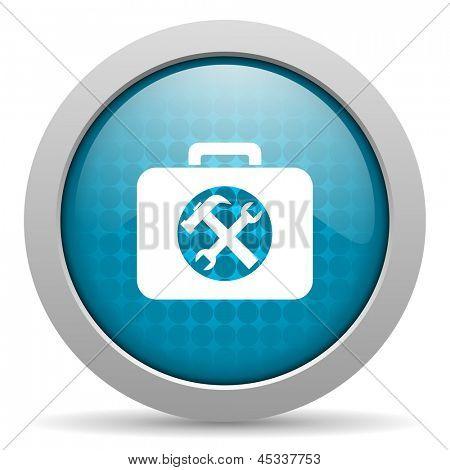 toolkit blue circle web glossy icon