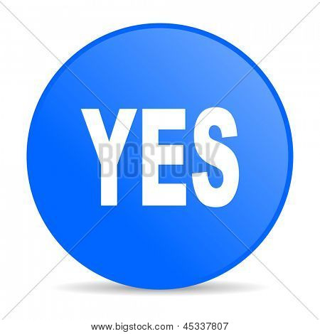 yes blue circle web glossy icon