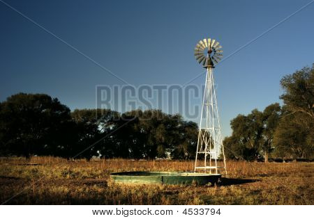 Windmill & Stock Tank