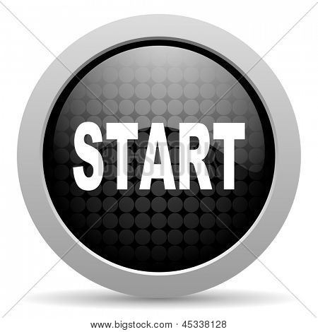 start black circle web glossy icon