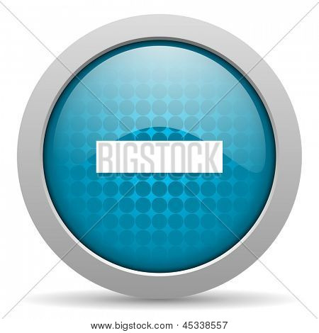abzüglich blauer Kreis Web glossy icon