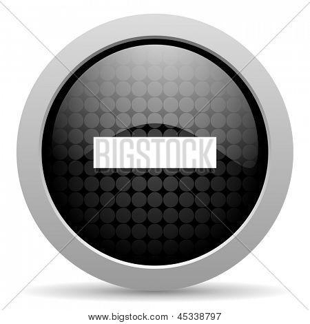 abzüglich glänzend schwarzen Kreis Web-Symbol