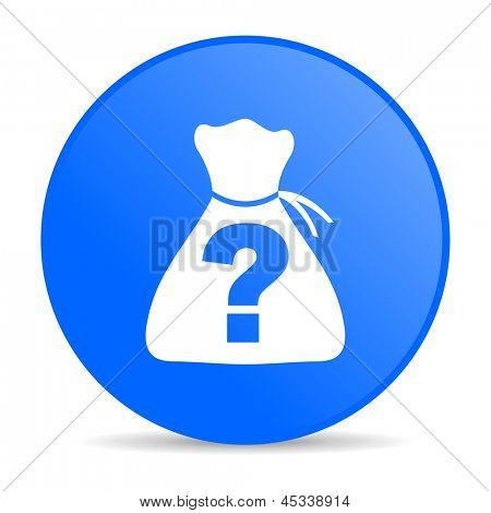 riddle blue circle web glossy icon
