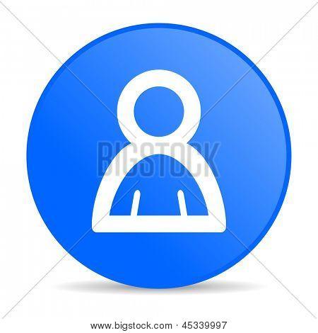 account blue circle web glossy icon