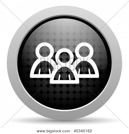 forum black circle web glossy icon