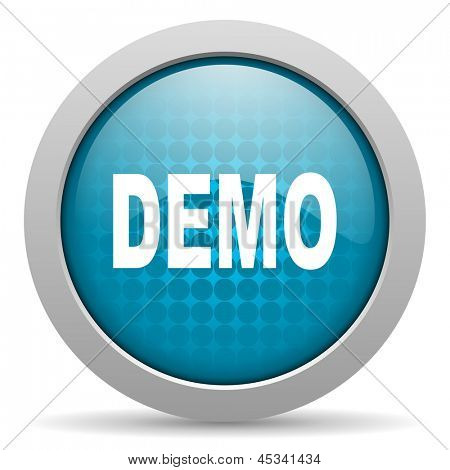 demo blue circle web glossy icon