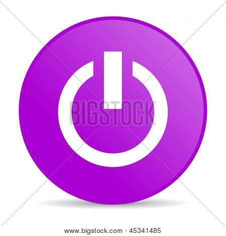 pink circle glossy web button on white background