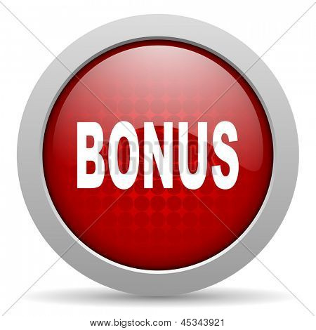 bonus red circle web glossy icon