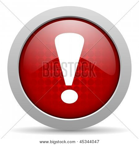 exclamation sign red circle web glossy icon
