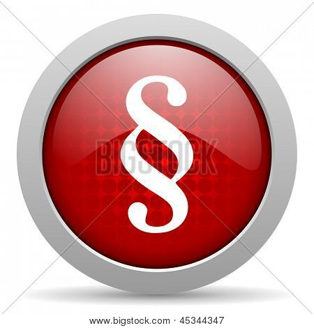 paragraph red circle web glossy icon