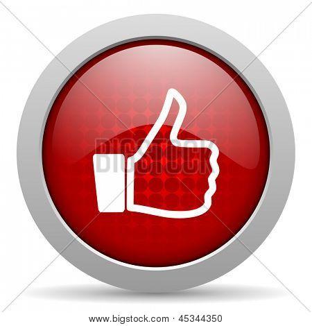 like red circle web glossy icon