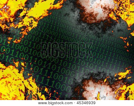 Burning Binary Background