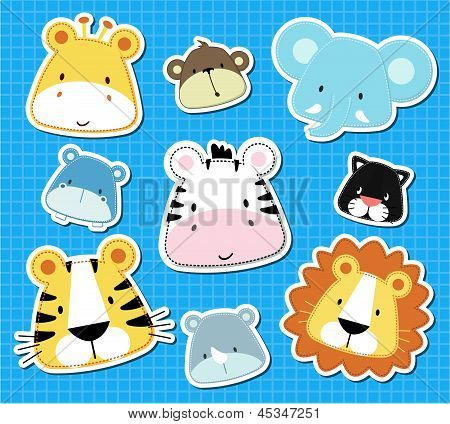 baby animals safari scrapbook