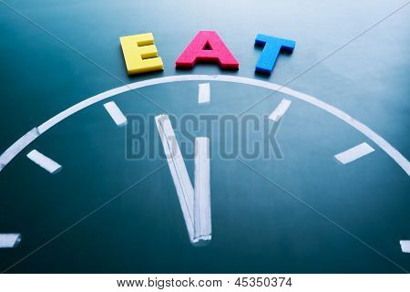 Time To Eat Concept
