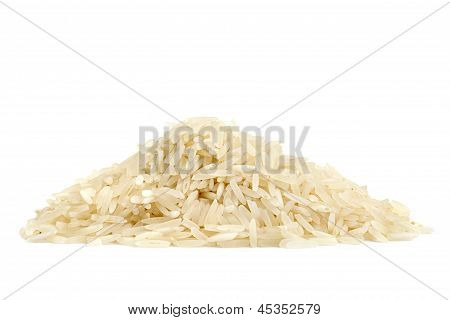 pile of basmati rice