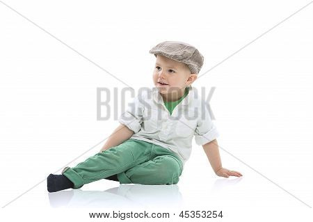 Handsome Little Boy In A Cap