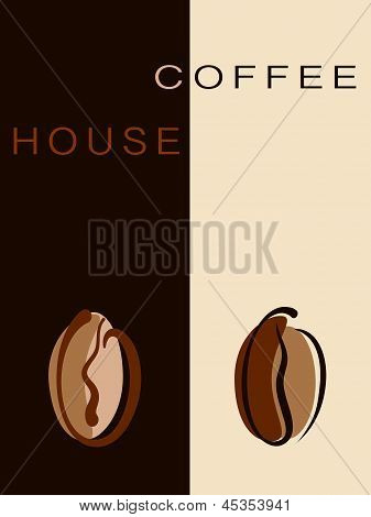 Cafe, Restaurant Card Or Coffee House Creative Menu With Beans