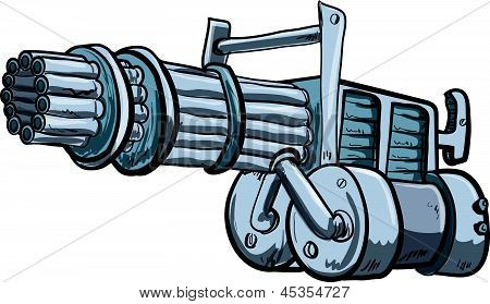 Illustration Of A Mini Gun