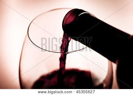 Rote Weinverkostung