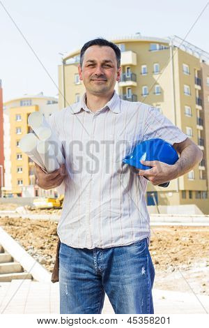 Architect At Construction Site