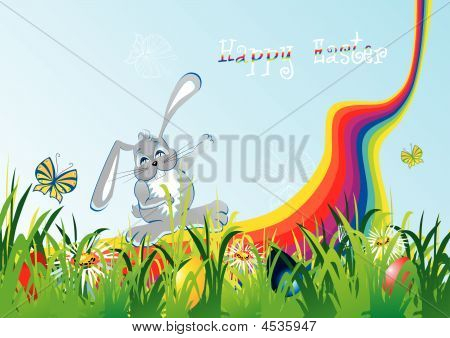 Cartoon Easter Foliage