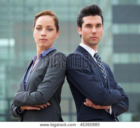 Portrait Of A Confident Young Business Team