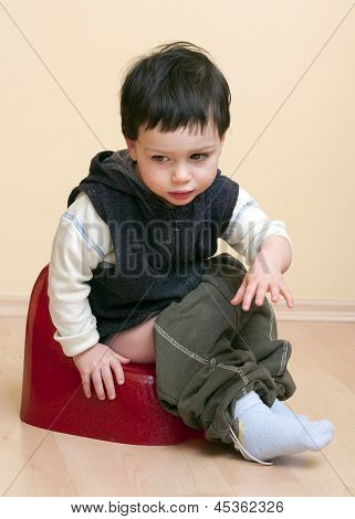 Child On Potty