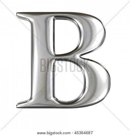 Metal alphabet symbol - B