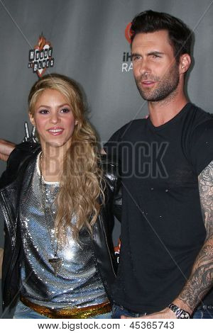 """LOS ANGELES - MAY 8:  Shakira, Adam Levine arrives at """"The Voice"""" Season 4 Top 12 Event at the House of Blues on May 8, 2013 in West Hollywood, CA"""