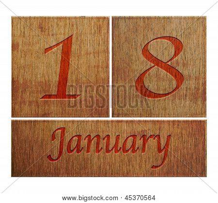 Wooden Calendar January 18.