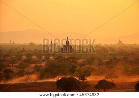 Bagan in sunset