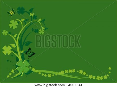 St. Patrick's Day Floral Background