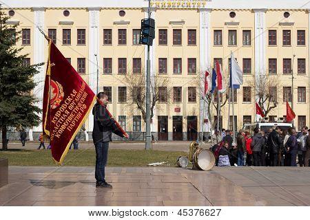Flag Bearer Of Kirov Regional Organization Of Communist Party