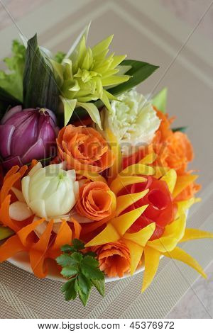 Bouquet From Vegetables