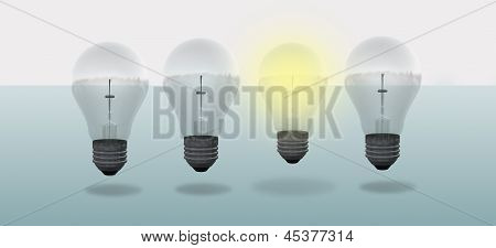 Conceptual Digital Light Bulb Design