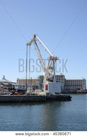 Crane At Cape Town Harbor