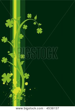 St. Patrick's Day Floral Background - Vertical