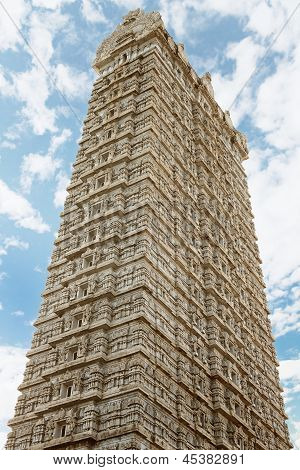 Gopuram Tower In The Temple Of Shiva