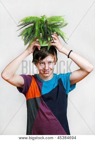 Pflanze auf Kopf