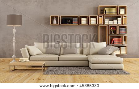 Living Room With Elegant Sofa